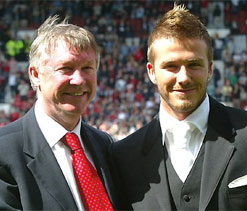 Beckham surrendered part of career, says Ferguson