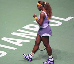 Williams eases to win over Kerber in WTA Championships