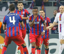 Leandro Tatu goal gives Steaua draw with Basel