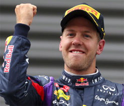 Vettel is up there with F1`s greatest, says Horner
