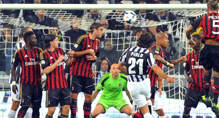 Milan undone by majestic Pirlo free kicks