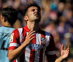 Atletico`s Villa out of Spain squad with ankle injury