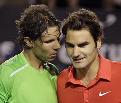 Rafael Nadal `sure` Roger Federer will be in London to fight for title