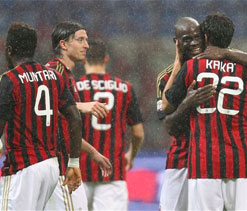 Milan losing touch with Champions League spots