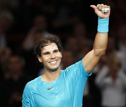 Nadal on track for elusive Paris Masters title