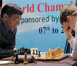 Anand draws seventh game; Carlsen remains two points ahead