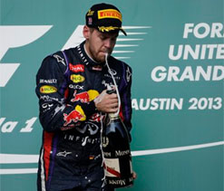 Vettel wins US Grand Prix for record 8th successive victory