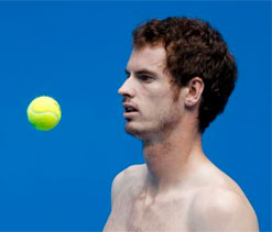 Andy Murray back on tennis court for first time since back surgery