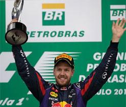 Sebastian Vettel wins Brazilian GP to end season on record high