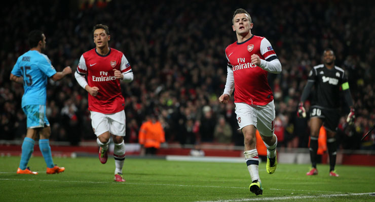 Champions League: Early bird Wilshere takes Arsenal to brink