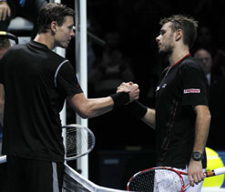 Wawrinka shines against Berdych on Tour Finals debut