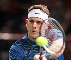 ATP World Tour Finals: Juan Martin del Potro hits back to down Richard Gasquet