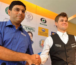World Chess Championship: Game one between Viswanathan Anand, Magnus Carlsen ends in draw