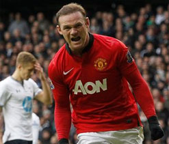 Rooney double earns Man United draw at Tottenham