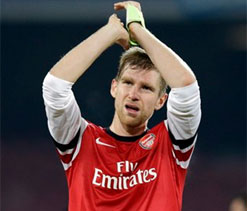 Arsenal`s Per Mertesacker doesn`t fear big guns in Euro draw