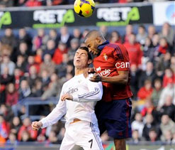 Ten-man Real Madrid salvage draw at Osasuna