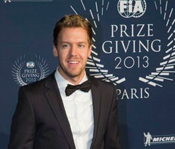 Sebastian Vettel hit Formula One for four
