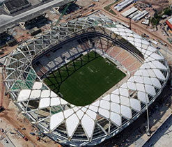 Work resumes at Manaus World Cup stadium