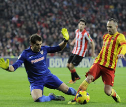 Barcelona unbeaten run ends in defeat at Bilbao
