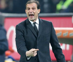 Milan coach Allegri refuses to talk about his exit