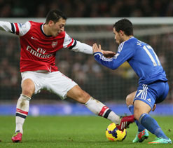 English Premier League: Arsenal and Chelsea serve up bleak midwinter draw