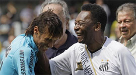 Neymar`s European experience can help Brazil, says Pele