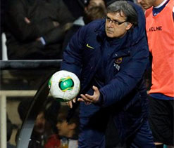 Martino relieved after Barca win