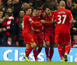 Liverpool beat West Ham 4-1 to move to second spot in PL table