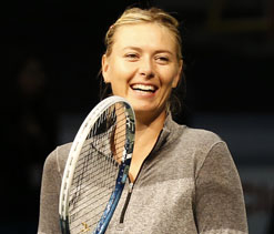 Sharapova happy with `baby step` return