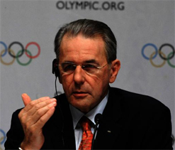 IOC President Rogge to meet with head of wrestling`s governing body