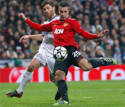 Robin Van Persie rues missed chance against Real Madrid