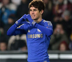 Europa League: Oscar gives Chelsea first leg win over Prague