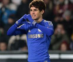 Europa League: Oscar gives Chelsea first leg win over Prague