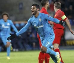 Europa League: Zenit`s Hulk stuns Liverpool