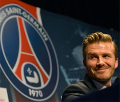 David Beckham learning French after joining PSG