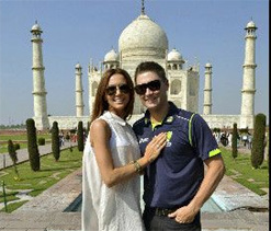 Aussie cricketers having a ball in Chandigarh