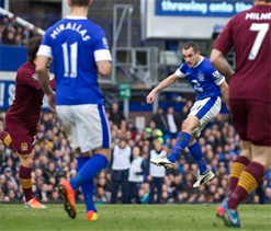 Everton 2-0 Manchester City: Ten-man Toffees deliver further blow to visitors` slim title hopes