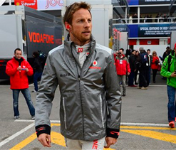Button wary of Hamilton's Mercedes team's performance in Barcelona tests