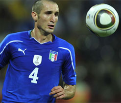 Chiellini out of Italy-Brazil match
