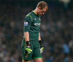 Hart admits Manchester United punished Man City`s inconsistency in PL