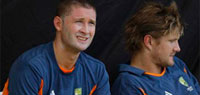 Michael Clarke and Shane Watson hardly communicate during training session