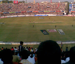 Full-house at Hyderabad stadium enjoys India`s day out