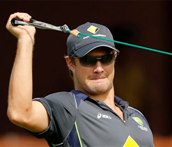 After defeat, Aussies practice on fifth day track