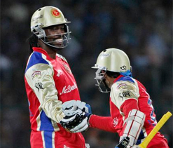 Gayle, Dilshan have a go under lights in RCB`s net session