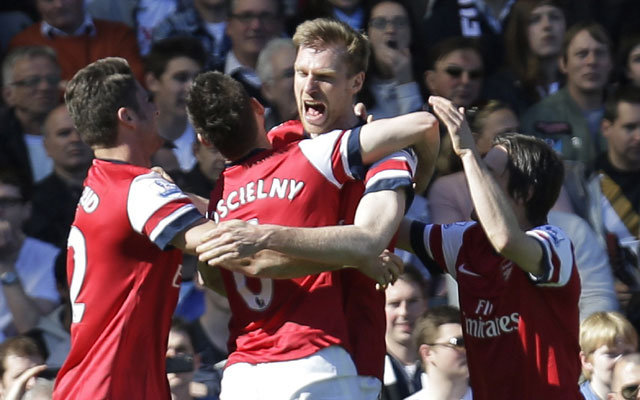 EPL: Per Mertesacker's lone strike takes Arsenal to third