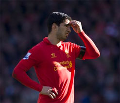 Liverpool striker Suarez charged for bite by FA