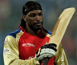 Gayle has swung it three times in four games for RCB vs MI