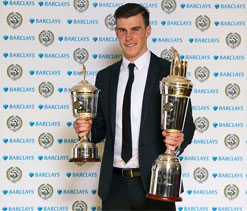 Tottenham's Gareth Bale lifts second PFA Player of the Year award