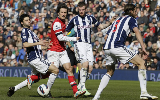 EPL: Tomas Rosicky double leads Arsenal to 2-1 win over West Brom