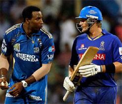 Pollard successfully gets under Watson`s skin during IPL game